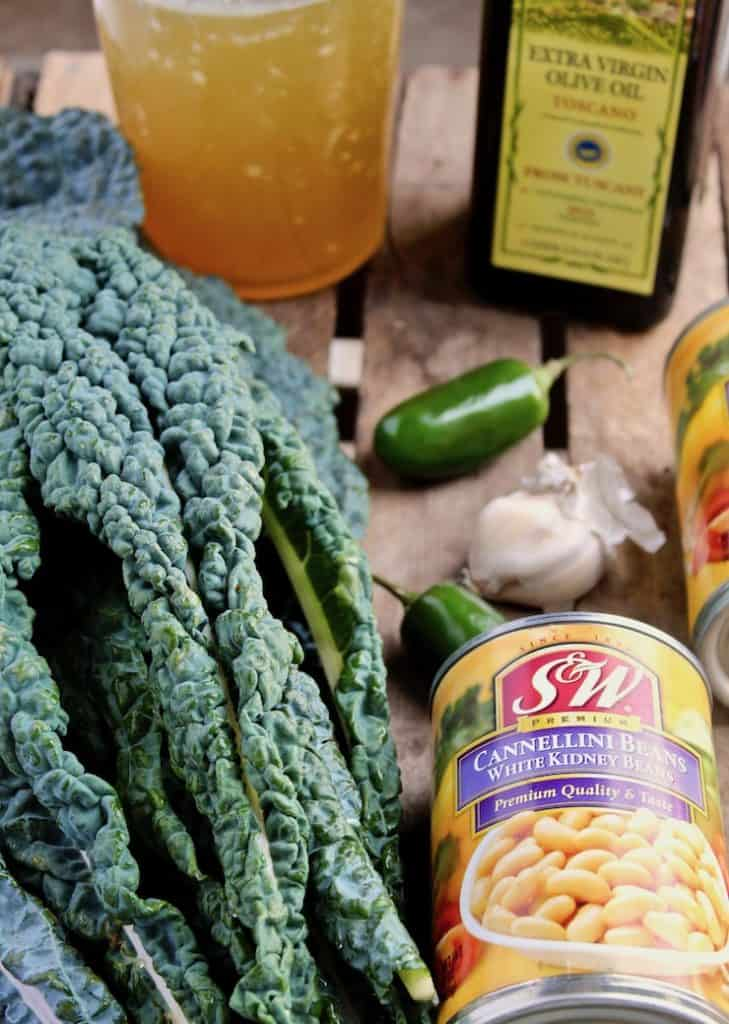 Tuscan Kale and Cannellini Bean Soup photo of ingredients