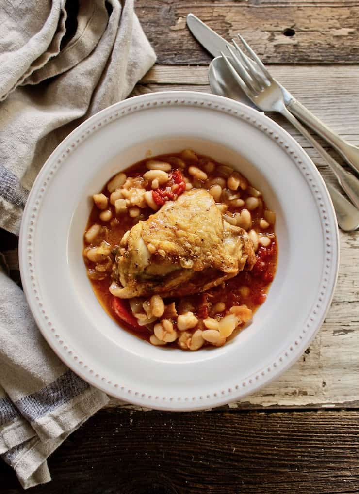 Baked Chicken and White Beans Recipe