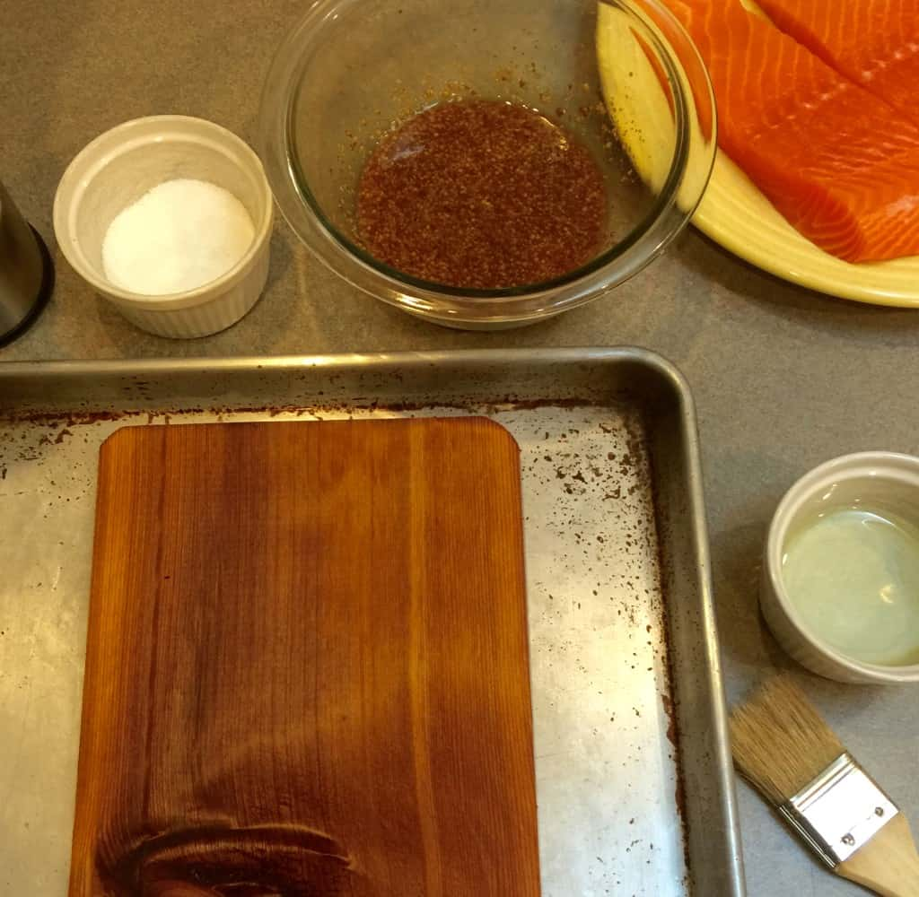 Maple Mustard Cedar-Planked Salmon