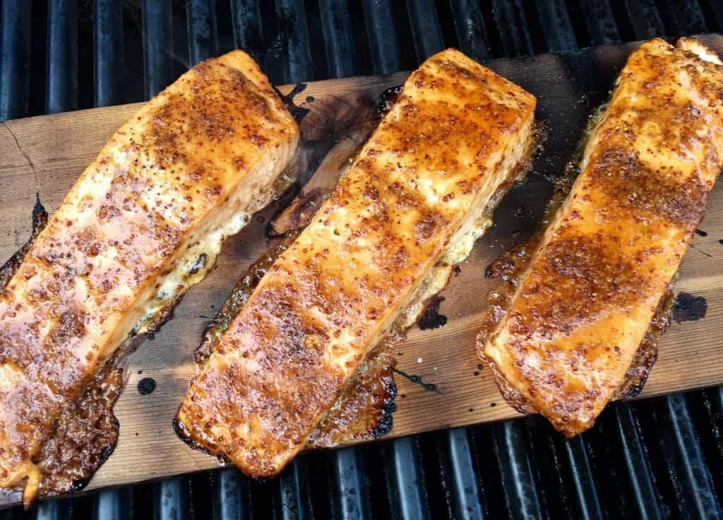 Maple Mustard Cedar-Planked Salmon