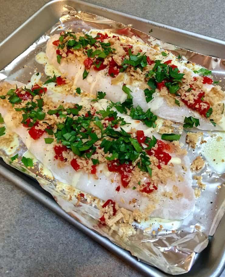 Greek Baked White Fish