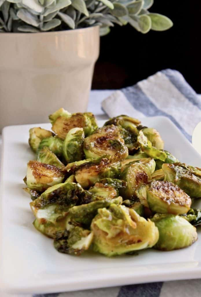 Brussels Sprouts on platter