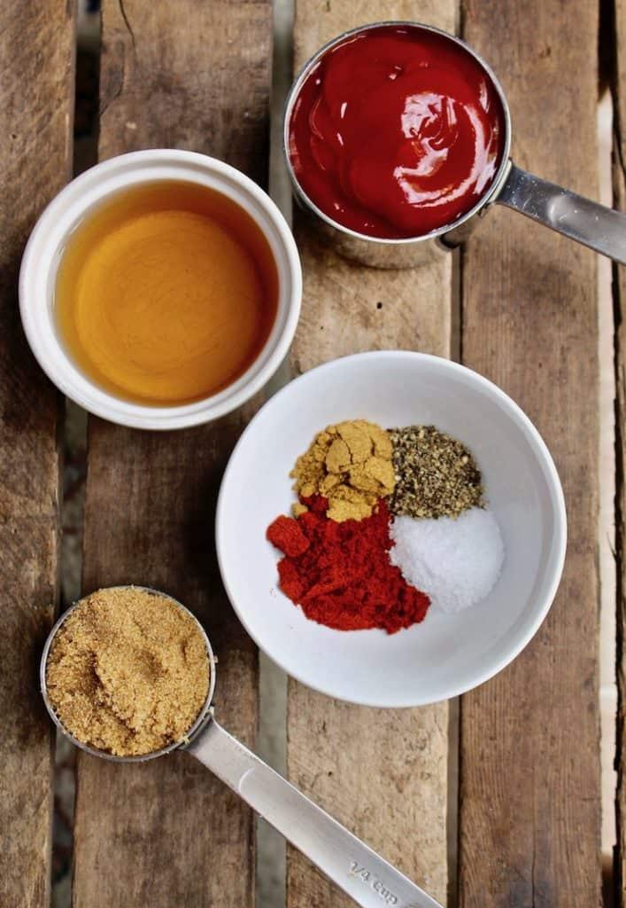BBQ sauce ingredients.