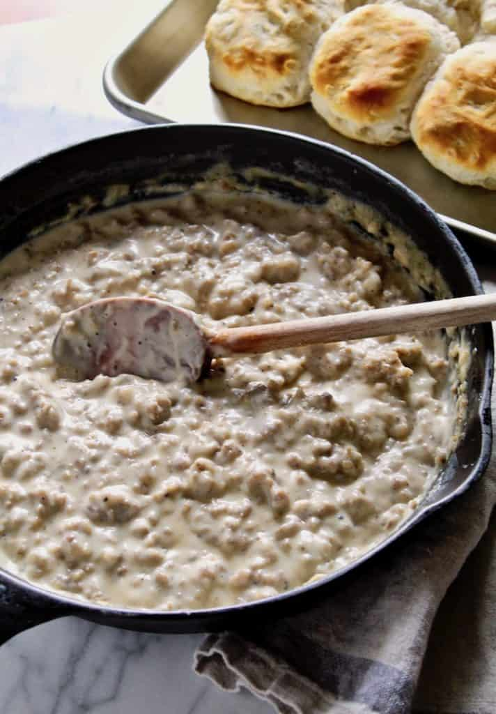 Easy Homemade Sausage Gravy And Biscuits Recipe