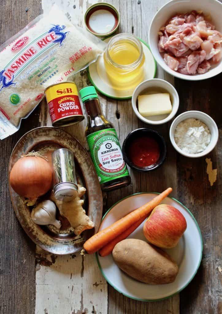 Wafuu Chicken Curry ingredients