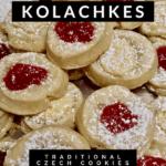 Kolachkes, pin for Pinterest with text