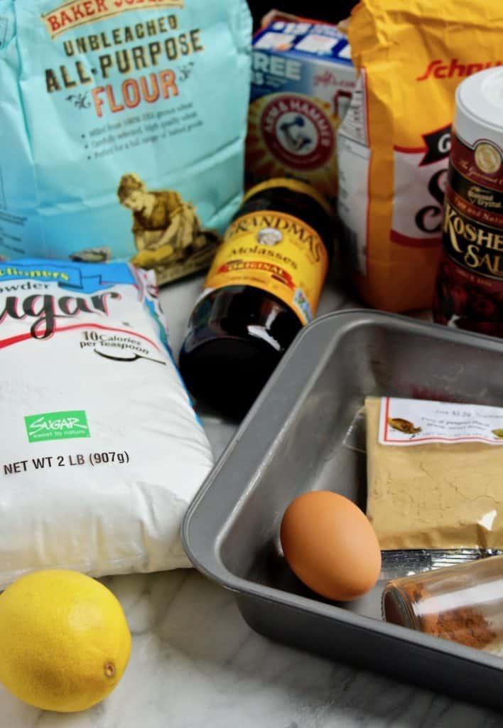 Gingerbread, photo of ingredients
