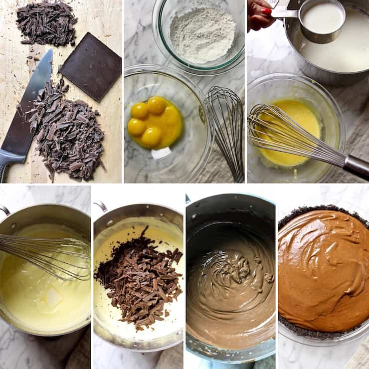 Pastry cream filling, step by step photos