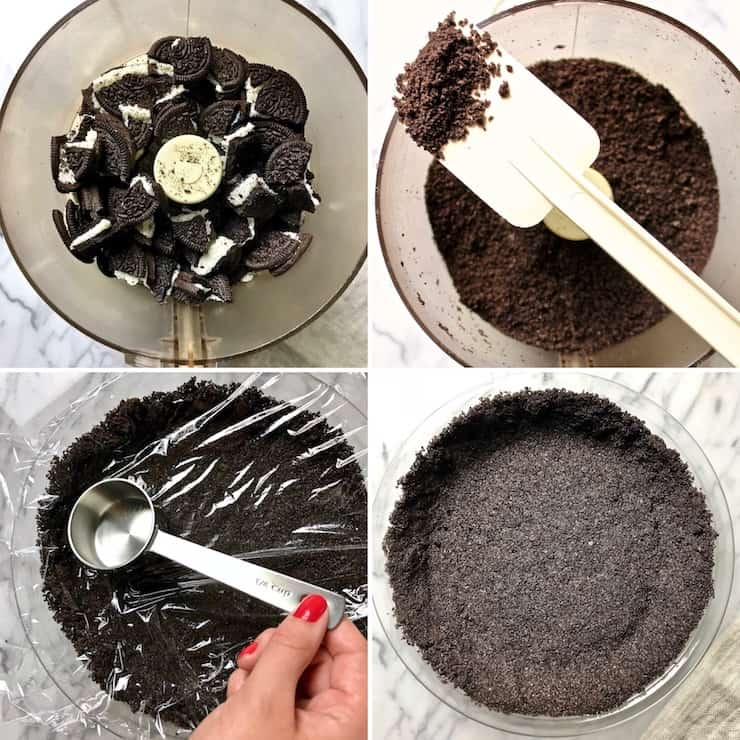 Chocolate cream pie crust step by step photos