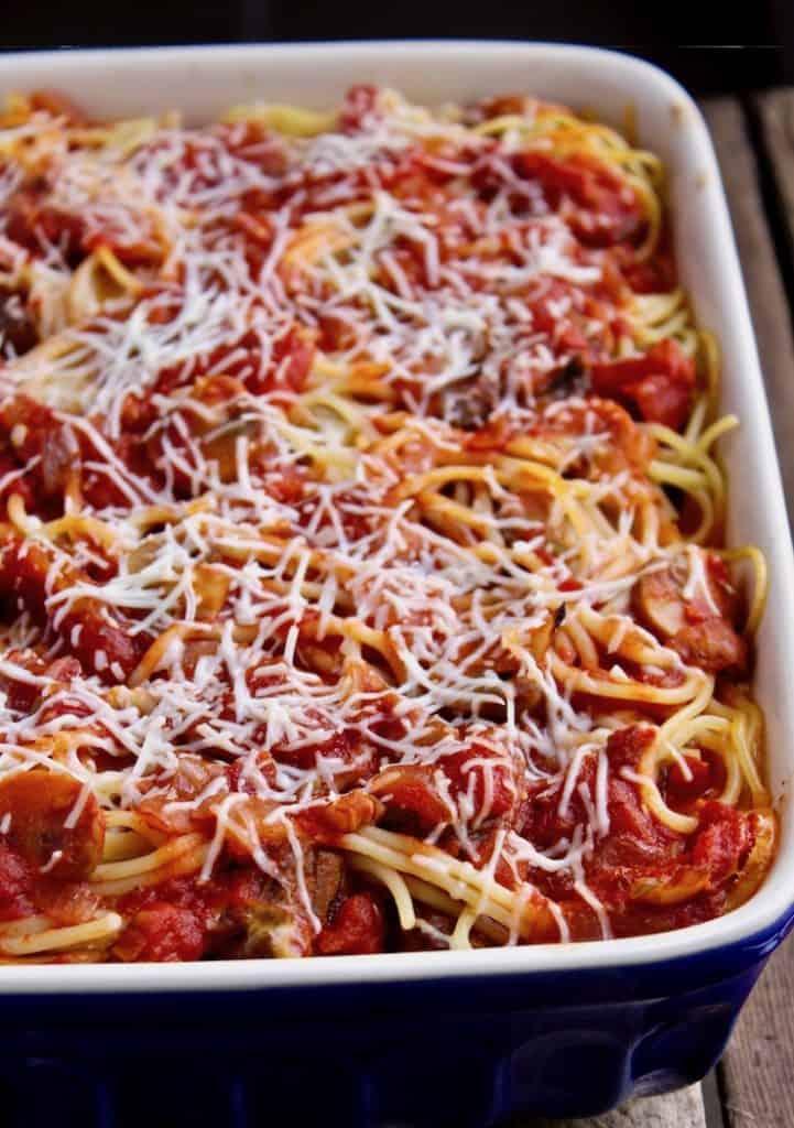 Italian Baked Spaghetti