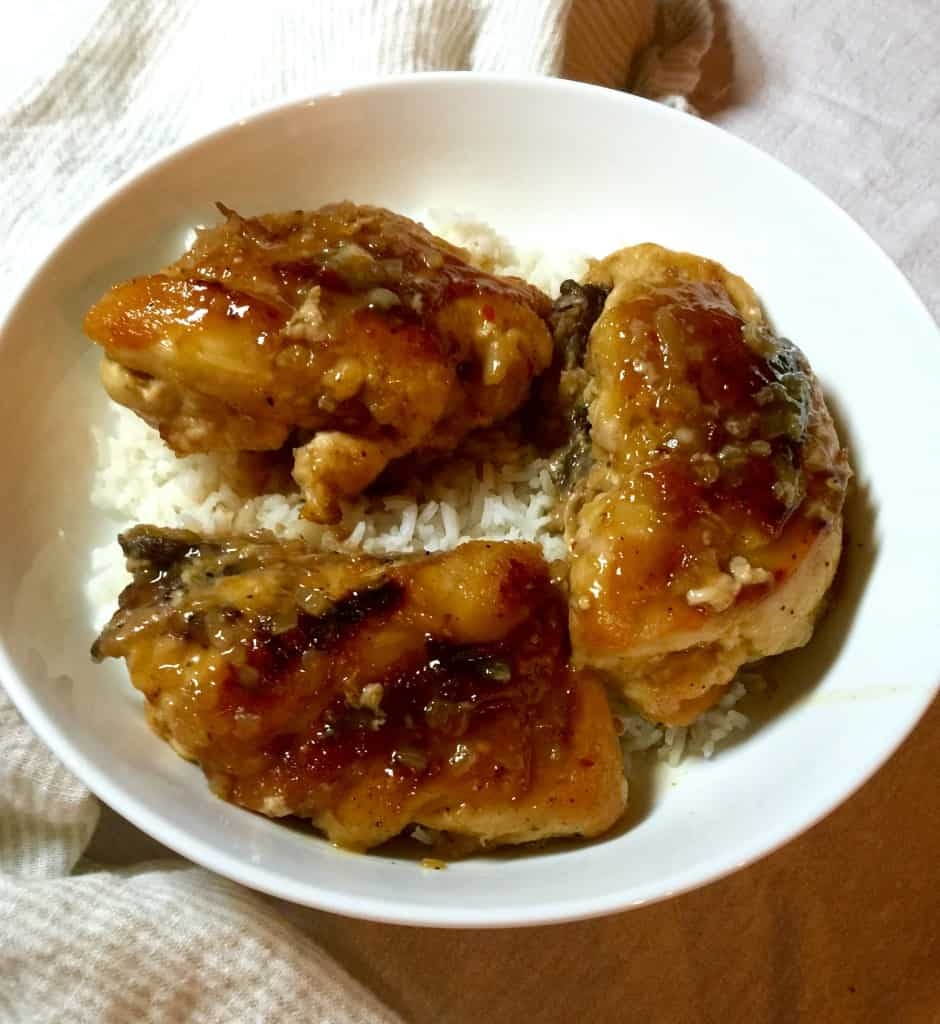 Orange Glazed Chicken Breasts