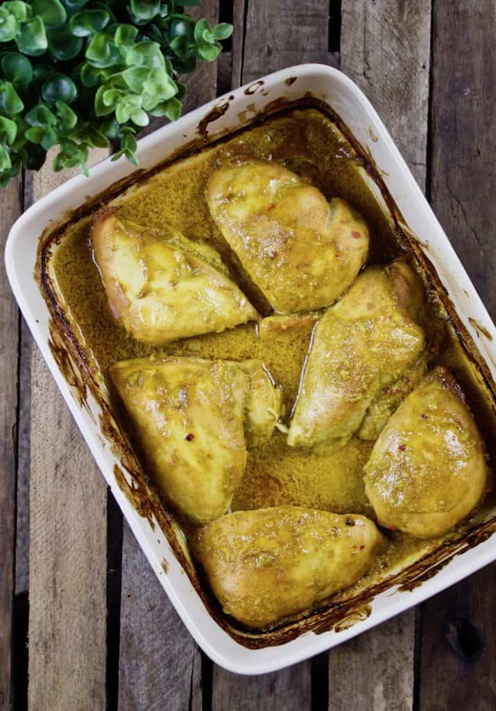 No Work Chicken Recipe: Easy baked chicken in honey curry ...