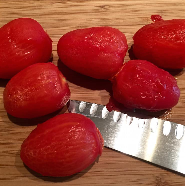 Prepping fresh tomatoes