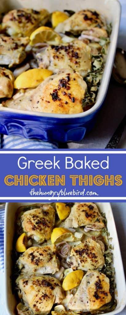 Greek Baked Chicken Thighs Pinterest PIN