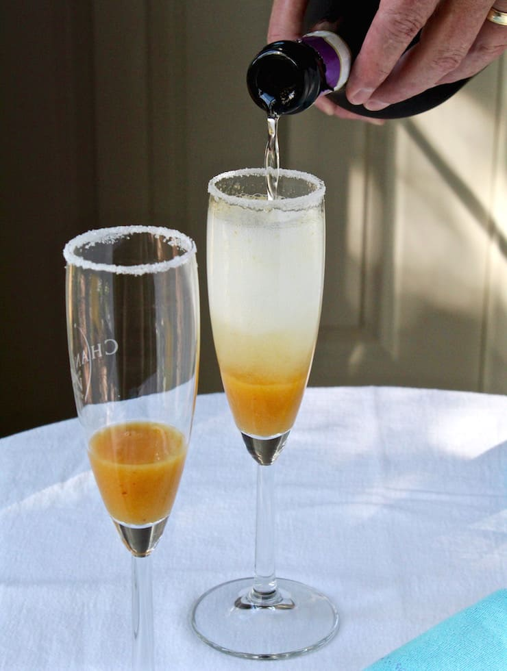 Fresh Peach Bellinis