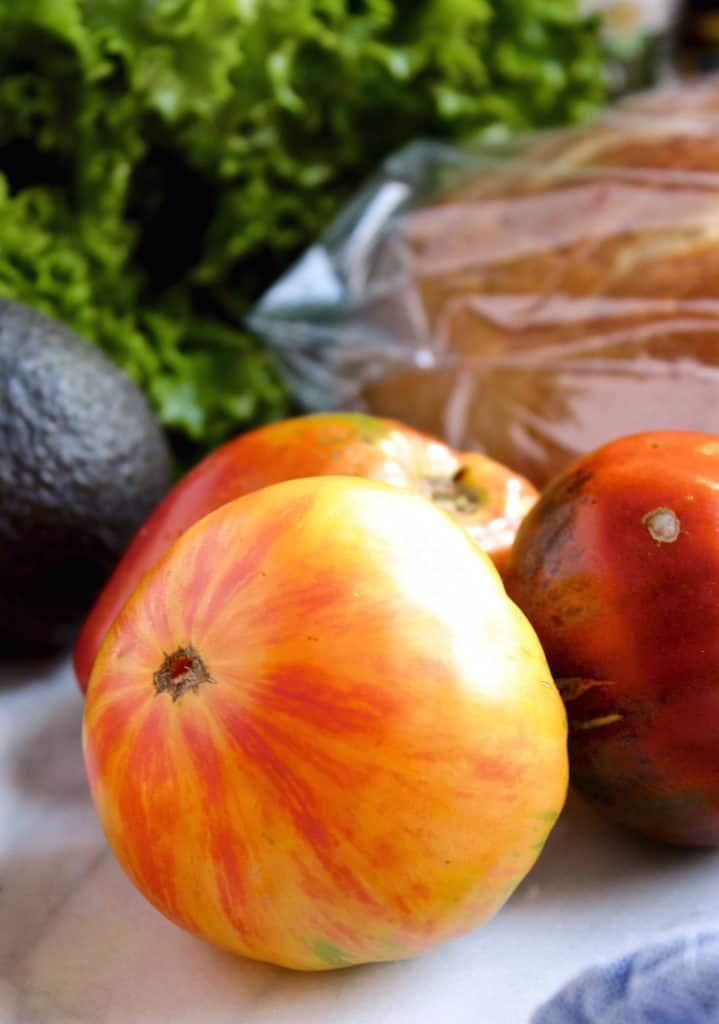 heirloom tomatoe close up