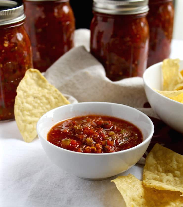 Fire Roasted Salsa Canning Recipe