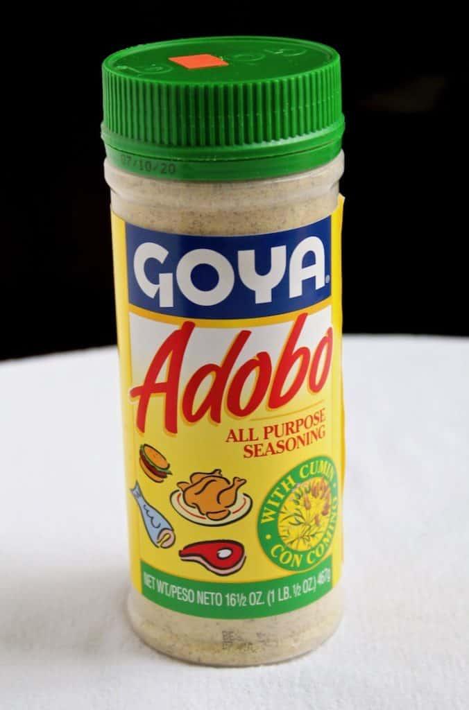 Goya adobo seassoning for steak.
