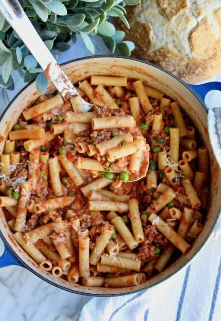 Creamy Italian Sausage Peasant Pasta