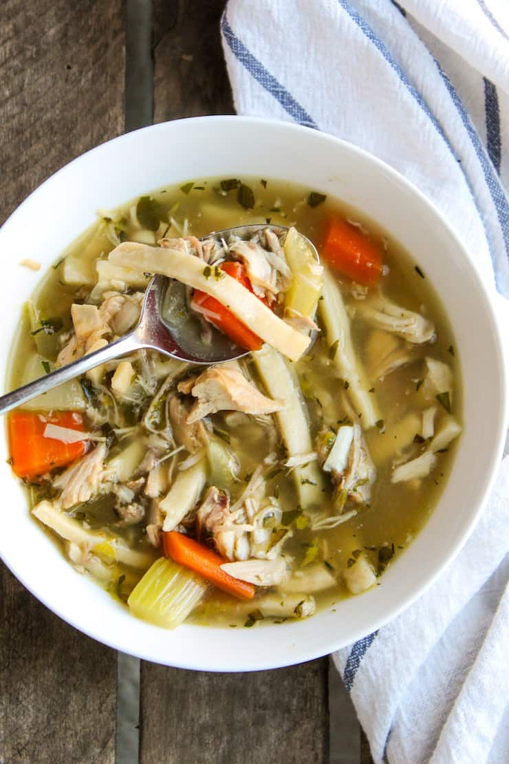 Leftover Turkey Noodle Soup Recipe The Hungry Bluebird