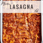 Mom's Lasagna, Pinterest pin