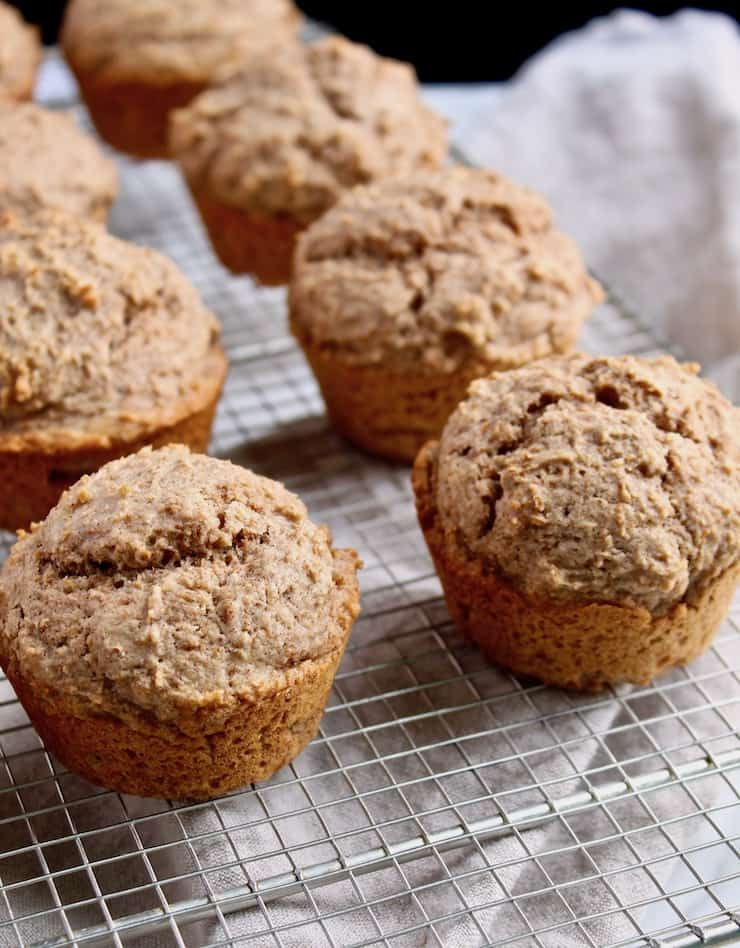 Classic Bran Muffins, baked on cooling rack