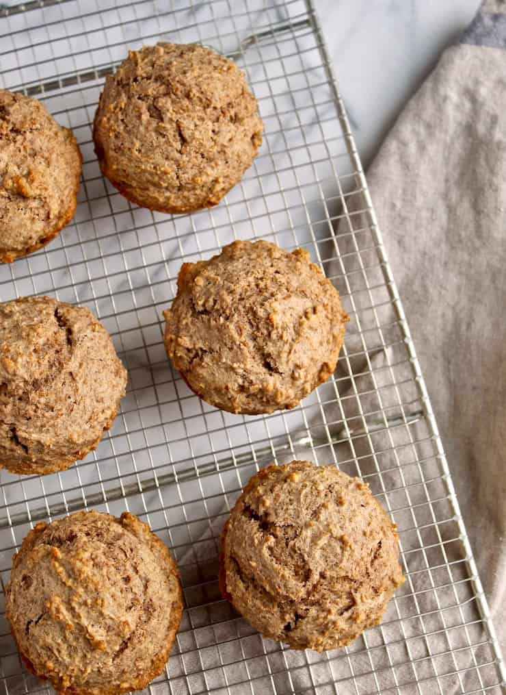 Classic Bran Muffins, on cooling rack.