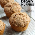 Bran Muffins pin for Pinterest with text.
