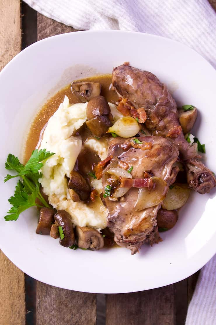 Coq Au Vin Recipe Chicken Braised In Red Wine