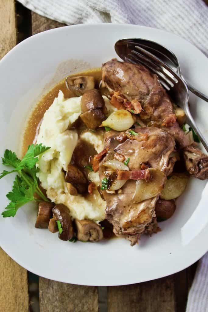 Coq Au Vin Recipe Chicken Braised In Red Wine