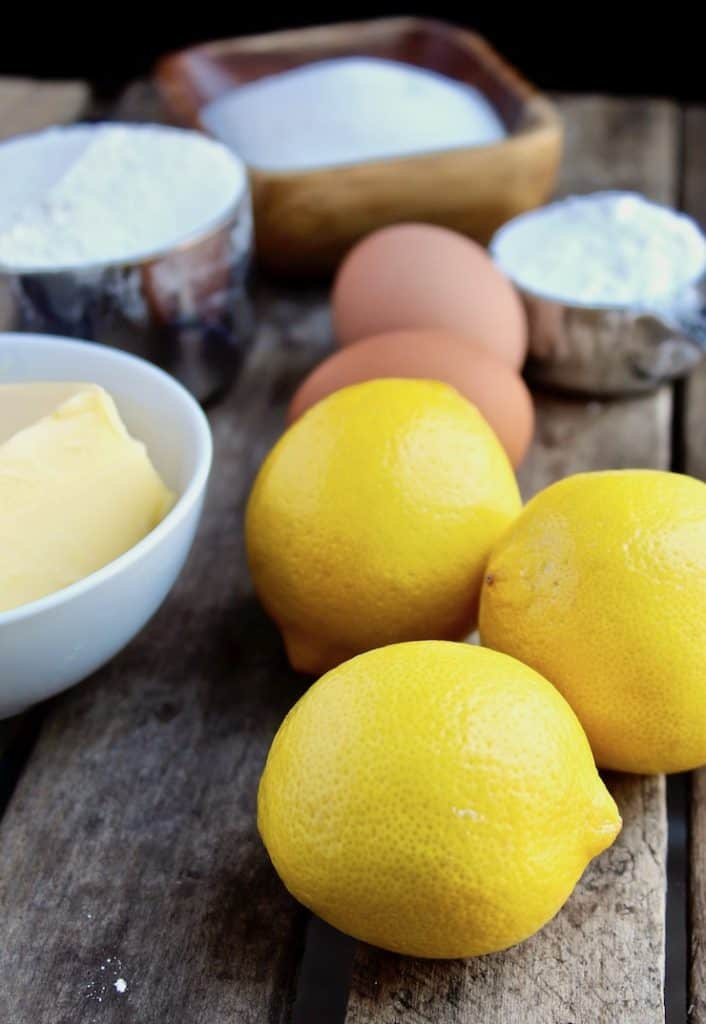 Lemon Squares, ingredients photo