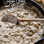 Sausage Gravy and Biscuits Pinterest pin