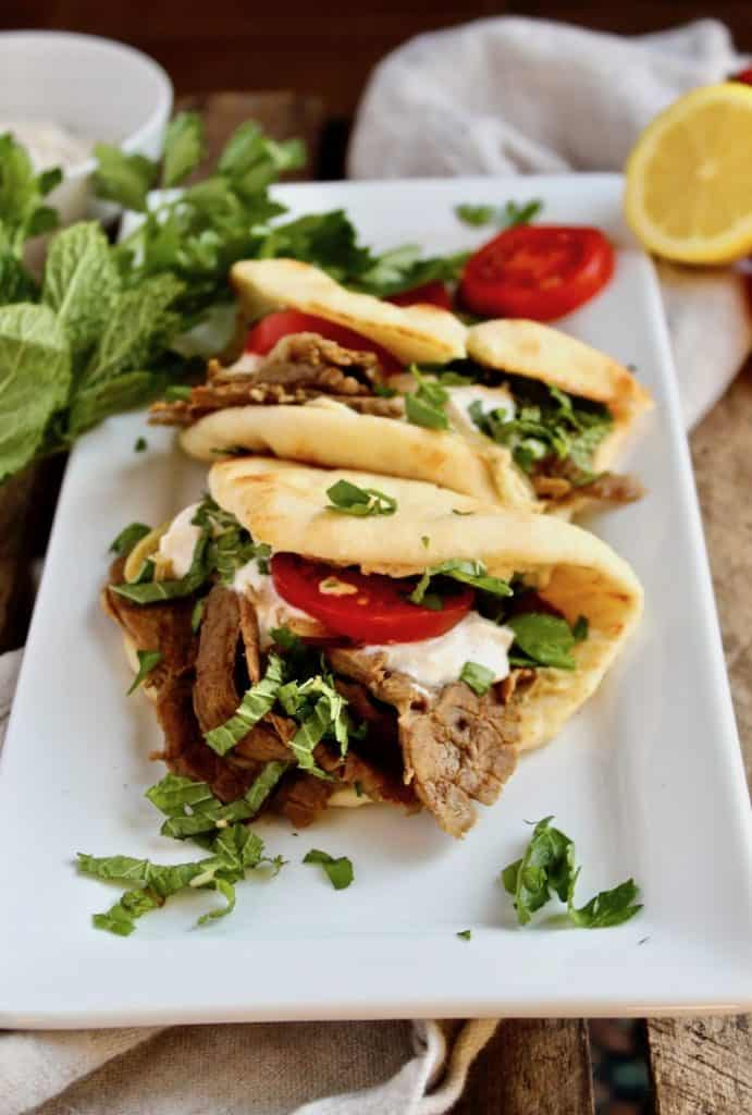 Leftover Lamb Flatbreads