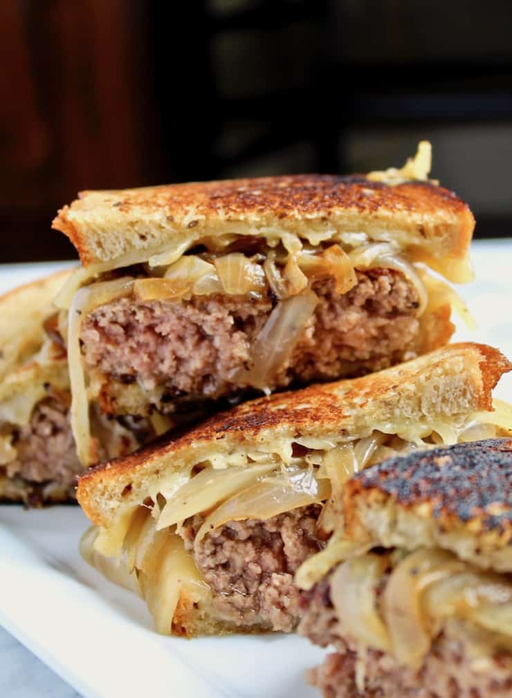 Diner-Style Patty Melts, cut in half on serving platter
