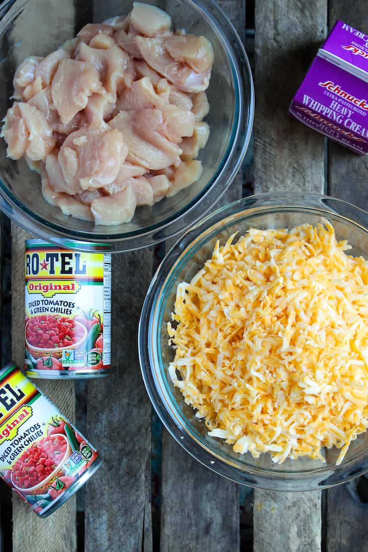 Chicken and cheese ingredients photo.