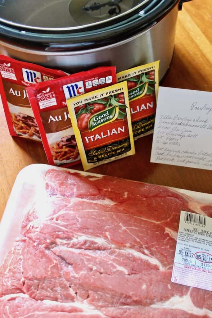 Italian Beef Po' Boys