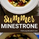 Summer Minestrone long pin for Pinterest