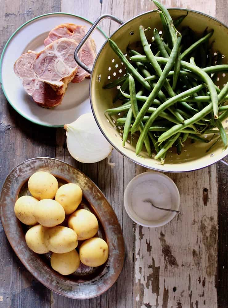Country Style Green Beans, Potatoes and Ham in the Instant Pot photo of ingredients