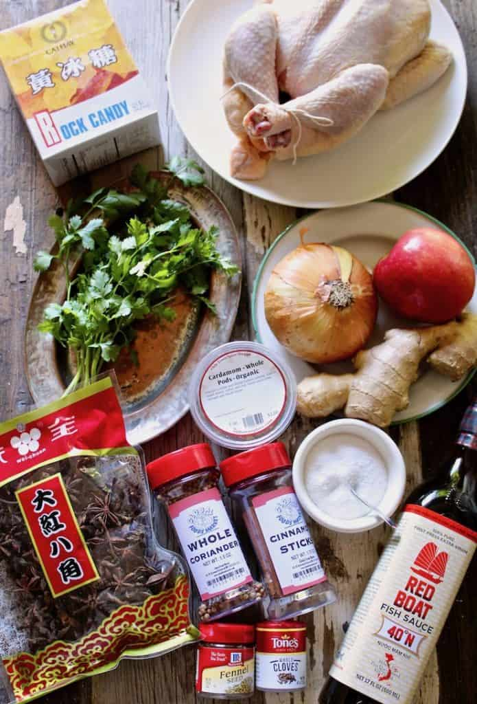 Instant Pot Pho Ga, ingredients photo