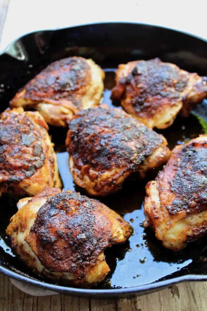 How To Make Cast Iron Skillet Cajun Chicken Thighs