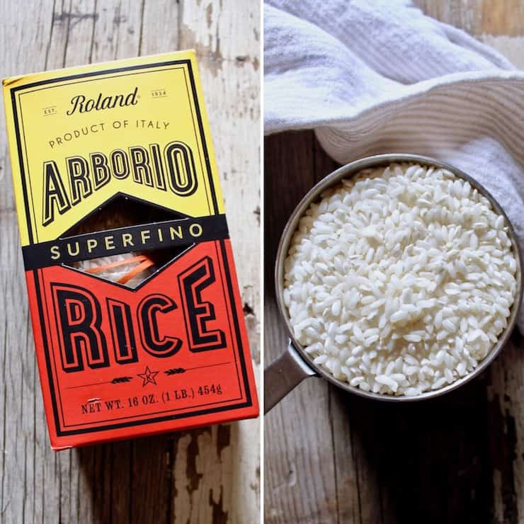 Arborio rice close up