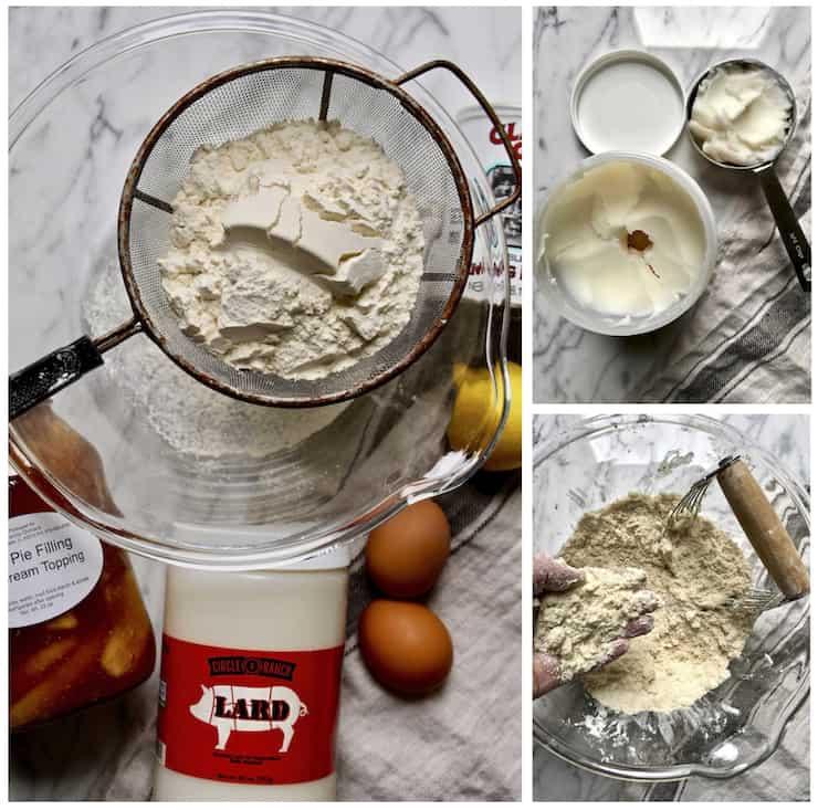 Ingredients photo with lard