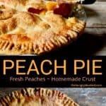 Peach Pie pin for Pinterest