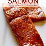 Cajun Brown Sugar Salmon. Pinterest Pin