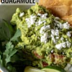 Perfect Guacamole pin for Pinterest with text.