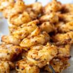 Grilled Harissa Shrimp skewers