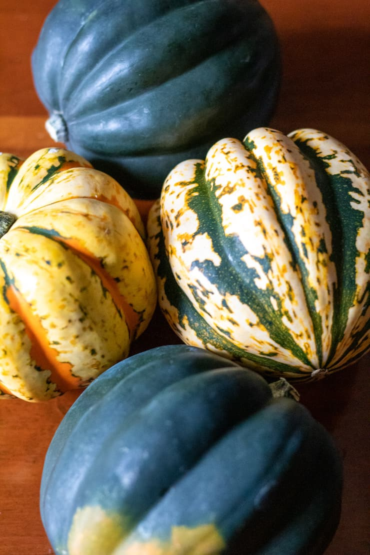Winter acorn squash varieties.