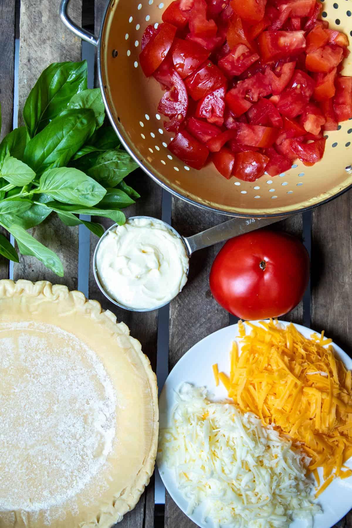 Overhead photo of ingredients.